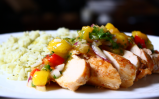 Pineapple Barbeque-Glazed Chicken with Mango Salsa